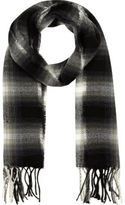 River Island Boys black shadow check scarf