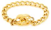 Chanel Vintage CC Turnlock Bangle Bracelet