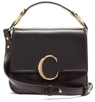 Chloé The C Small Square Leather Cross-body Bag - Womens - Black