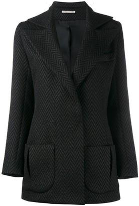 Emilia Wickstead Herringbone Tuxedo Jacket