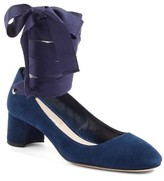 Miu Miu Women's Ribbon Lace Wraparound Pump