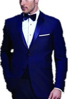 MRYSY Men Suits Royal Groomsmen Tuxedos Slim Fit Prom Party Suits