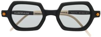 Kuboraum P3 geometric-frame sunglasses