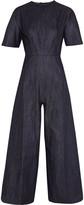 SOLACE London Faron satin-paneled crepe jumpsuit