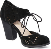 Restricted Black Wind Leather D'Orsay Pump