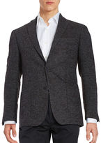Michael Kors Textured Two-Button Wool-Blend Jacket