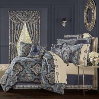 J Queen New York Middlebury 4-Piece Queen Comforter Set in Indigo
