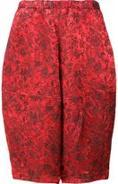 Comme des Garcons jacquard cropped trousers - women - Polyester/Rayon - S