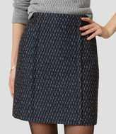 LOFT Petite Candy Cane Tweed Skirt