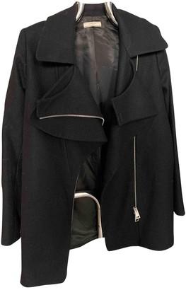 Bouchra Jarrar Black Wool Coat for Women