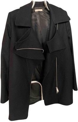 Bouchra Jarrar Black Wool Coats