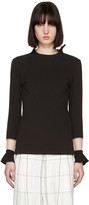 Toga Black Flare Sleeves Pullover