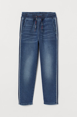 H&M Side-striped denim joggers