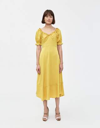Farrow Women's Janine Short Sleeve Dress in Yellow, Size Extra Small