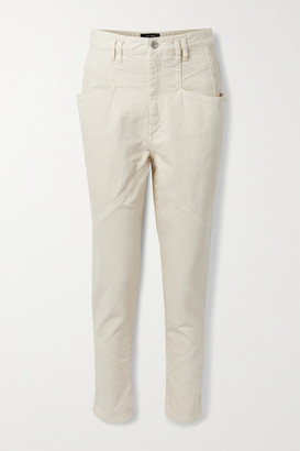 Isabel Marant Nadeloisa Paneled Tapered Pants - Ecru