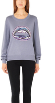 Markus Lupfer Graphic Lara Lip Sequin Sweater