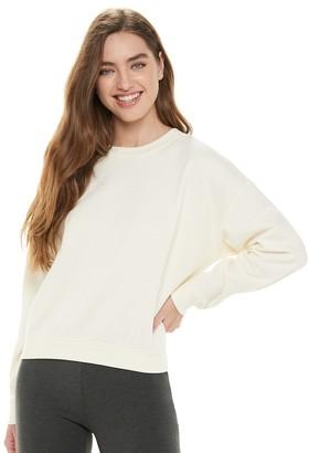 Juniors' Common Threads Solid Fleece Crew Sweatshirt