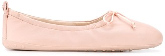 Tod's Elasticated Trim Ballerina Shoes