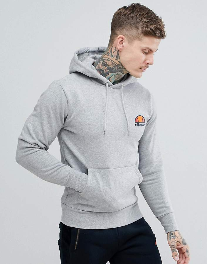 b0eabf6f hoodie with small logo in grey