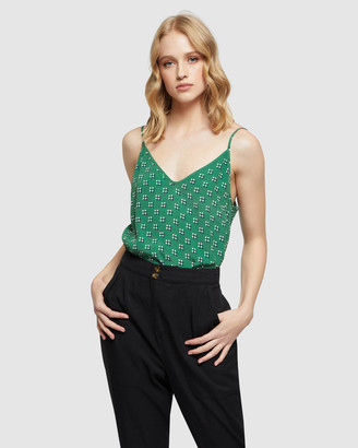 Oxford Women's Shirts & Blouses - Cameron Geo Spot Printed Cami - Size One Size, 10 at The Iconic