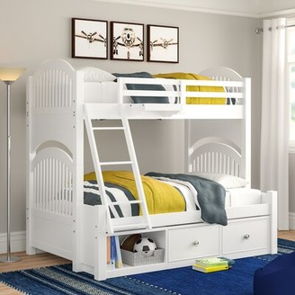Three Posts Baby & Kids Nickelsville Twin Over Full Bunk Bed with Drawers