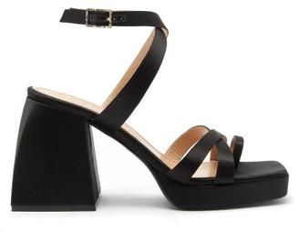 Nodaleto Bullia Platform-sole Satin-faced Leather Sandals - Black