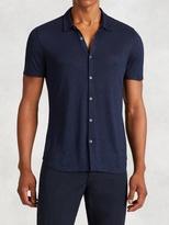 John Varvatos Collared Knit Shirt