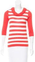 Kate Spade Striped Silk-Blend Sweater