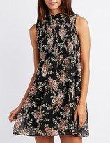 Charlotte Russe Floral Smocked Babydoll Dress
