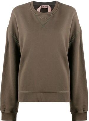 No.21 Lace-Panel Sweatshirt