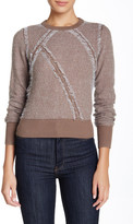 L.A.M.B. Clip Knit Crew Neck Sweater