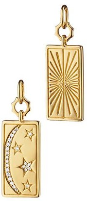 Monica Rich Kosann Yellow Gold Rectangular My Sun, Moon and Stars Tag Charm