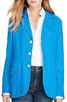 Polo Ralph Lauren Linen Button Front Blazer