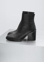 Ann Demeulemeester vitello lux black classic heeled boot
