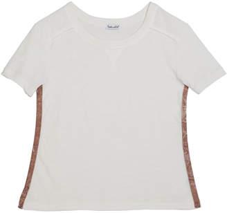 Splendid Cotton Slub Short-Sleeve Tee, Size 7-14
