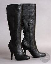 Rock and Republic Vandela Knee Boots in Python Black