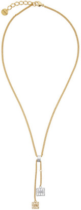 Givenchy Gold and Silver Two-Tone 4G Pendant Necklace