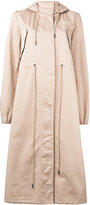 MM6 MAISON MARGIELA oversized hooded trench coat - women - Cotton - 42