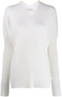 Bottega Veneta V-Neck Ribbed Jumper