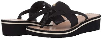 Lauren Ralph Lauren Rosalind Wedge (Black) Women's Shoes