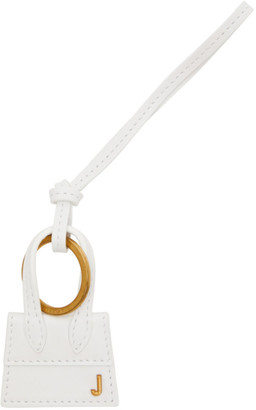Jacquemus White and Gold Le Porte Cles Chiquito Keychain