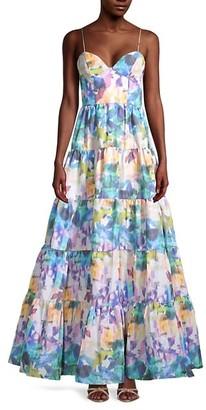 Flor Et. Al Shalott Floral Tiered Gown