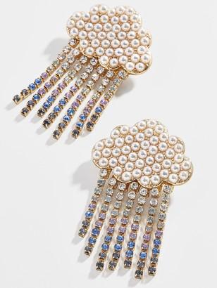 BaubleBar Silver Lining Drop Earrings
