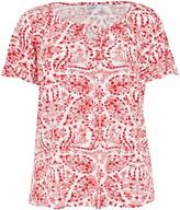 Evans Red Floral Print Gypsy Top