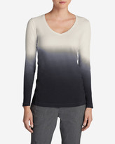 Eddie Bauer Women's Lookout Dip Dye Long-Sleeve Top