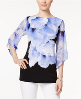 JM Collection Petite Floral-Print Tunic, Only at Macy's