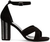 Saint Laurent Babies crystal embellished-heel suede sandals