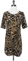 Patterson J. Kincaid Animal Print Shift Dress