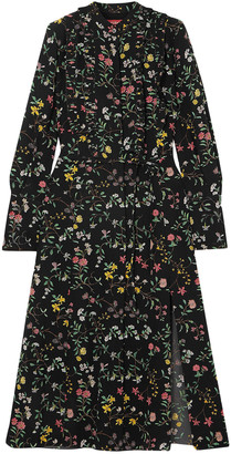 Altuzarra League Ruffled Floral-print Silk Crepe De Chine Midi Dress