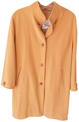 Burberry Yellow Cashmere Coat for Women Vintage